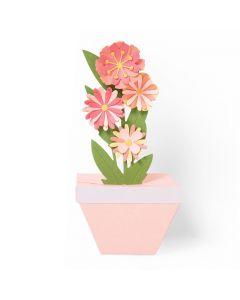 "Fustella Sizzix Thinlits ""Pianta in vaso pop-up"" - 664360"