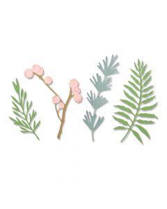 """Fustella Sizzix Thinlits """"Foglie naturali"""" - 664361"""