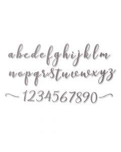 """Fustella Sizzix Thinlits """"Alfabeto corsivo minuscolo"""" - 664375"""