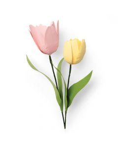 """Fustella Sizzix Thinlits """"Tulipano"""" - 664390"""