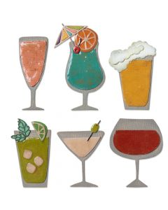 "Fustella Sizzix Thinlits ""Happy hour"" - 664435"