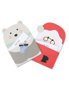 "Fustella Sizzix Thinlits ""Lettera a Babbo Natale"" - 664456"