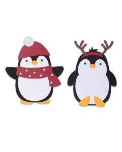 """Fustella Sizzix Bigz """"Pinguini amichevoli"""" - 664499"""