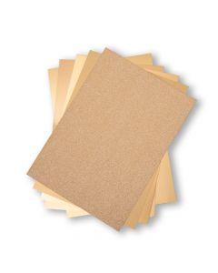 Set 50 fogli di cartoncino formato A4 - Tonalità oro