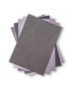 Set 50 fogli di cartoncino formato A4 - Tonalità grigio antracite