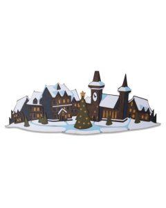 """Fustella Sizzix Thinlits """"Villaggio natalizio colorize"""" - 664737"""