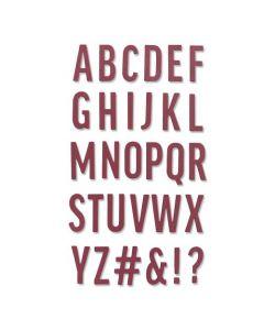 """Fustella Sizzix Thinlits """"Alfabeto in grassetto maiuscolo"""" - 665072"""