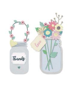 "Fustella Sizzix Thinlits ""Vaso di fiori"" - 665079"