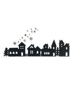 "Fustella Sizzix Thinlits ""Paesaggio natalizio"" - 665126"