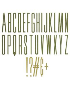 """Fustella Sizzix Thinlits """"Alfabeto maiuscolo allungato 6,35 cm"""" - 665206"""