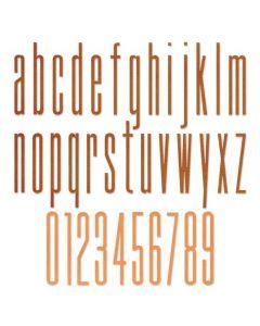 """Fustella Sizzix Thinlits """"Alfabeto minuscolo e numeri allungato 6,35 cm"""" - 665207"""