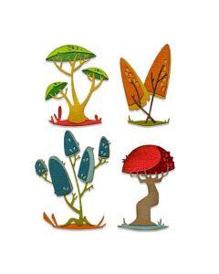 "Fustella Sizzix Thinlits ""Funghi moderni"" - 665216"