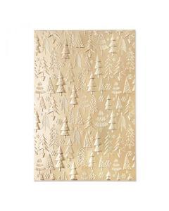 "Fustella Sizzix Embossing Folder 3D ""Motivo di alberi di Natale"" - 665254"