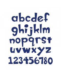 """Fustella Sizzix Bigz XL """"Alfabeto minuscolo e numeri Boss-0"""" - A11038"""