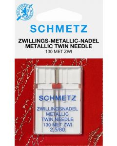 SCHMETZ Ago gemello per ricami con fili metallici 2,5 mm