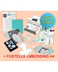 Sizzix Big Shot Plus formato A4 con Starter kit 661546 + fustella embossing A4