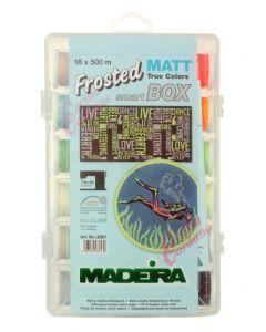 Box 18 filati da ricamo extra opachi - Frosted Matt no. 40 Madeira 500 mt.