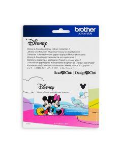 """Collezione disegni Disney per applicazioni n. 1 """"Topolino e i suoi amici"""" Brother Scanncut"""