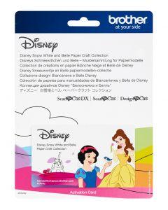 """Collezione disegni Disney """"Biancaneve e Belle"""" Brother Scanncut"""