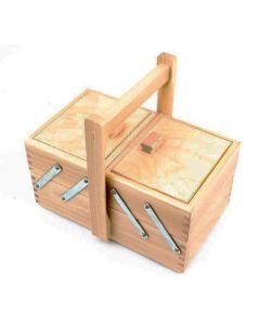 Cestino portalavoro a 2 piani in legno chiaro (faggio)