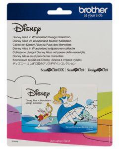 Scheda collezione disegni Disney Alice nel paese delle meraviglie Brother Scanncut