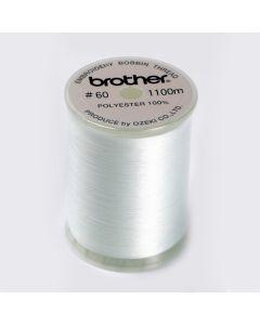 Filato per spolina Brother Bianco (per macchine cucito + ricamo) - mt. 1100