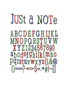 "Fustella Thinlits Sizzix ""Alfabeto e numeri Just a note"" - 660111"