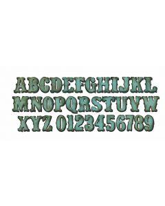 """Fustella Sizzix Bigz L """"Alfabeto maiuscolo"""" Vintage - 658772"""
