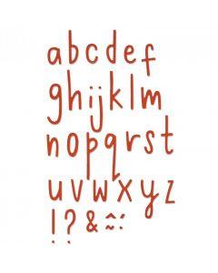 """Fustella Thinlits Sizzix """"Alfabeto minuscolo lettere delicate"""" - 661041"""