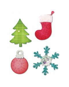 """Fustella Sizzix Bigz """"Decorazioni natalizie"""" - A10599"""
