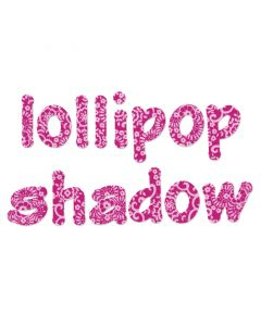 "Fustella Sizzix Bigz ""Lollipop shadow"" alfabeto minuscolo - 660112"