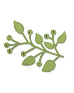 """Fustella Sizzix """"Ramo con foglie"""""""