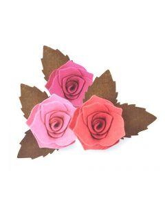 """Fustella Sizzix Bigz Plus """"Fiore Rosa 3D con foglia"""" - 661984"""
