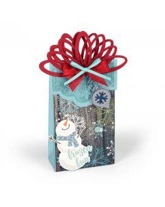"""Fustella Sizzix Bigz XL """"Scatola natalizia con linguetta """" - 661557"""