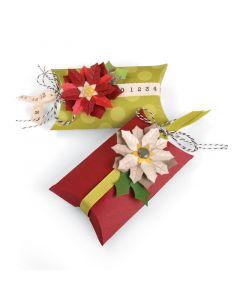 """Fustella Sizzix Thinlits """"Scatola cuscino e stelle di Natale"""" - 660660"""