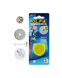 Lame di ricambio per taglierina 28 mm Prym / Olfa (2 pezzi)