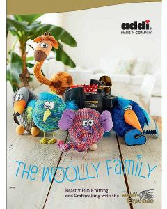 "Libro per mulinetto 22 aghi ""The Woolly Family"" - Addi Express"
