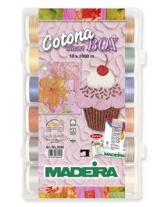 Cotona Smart Box 18 filati cotone Madeira 1000 mt.