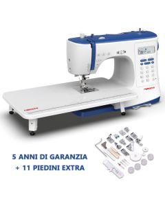 Macchina per cucire elettronica Necchi NC103D + Piano prolunga