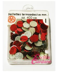 Paillettes Rosse da 6mm (400 pezzi)