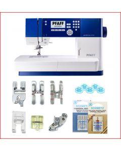 Macchina per cucire elettronica Pfaff Ambition 610 + 5 piedini + gambo extra
