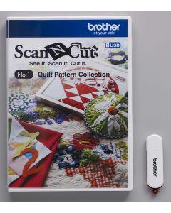 USB No. 1 Collezione Disegni per Trapunte Brother ScanNCut