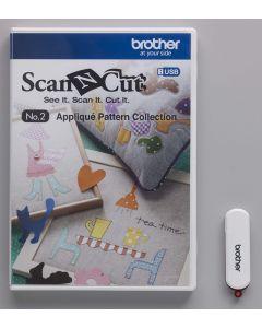 USB No. 2 Collezione Disegni per Applicazioni Brother ScanNCut