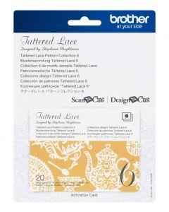 "Collezione disegni Tattered Lace 6 Brother Scanncut ""Disegni tipici"""