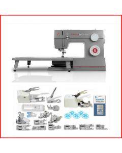 Macchina per cucire meccanica Singer Heavy Duty HD 6335 Denim + Piedino tagliacuci + Set 15 piedini