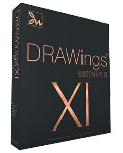 Software da ricamo multiformato DRAWings XI Essential