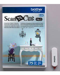 USB No. 3 Collezione Disegni per la Decorazione di interni Brother ScanNCut