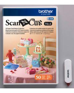 USB No. 4 Collezione di modelli artistici di carta in 3D Brother ScanNCut